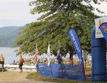 Starting Line at SavageMan Triathlon at Deep Creek Lake