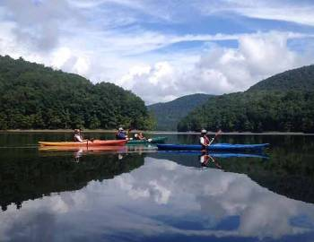 Kayaking with All Earth Eco Tours at Deep Creek Lake