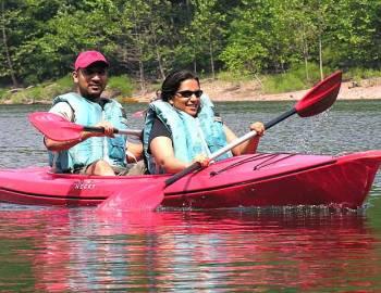 Kayaking near Deep Creek Lake