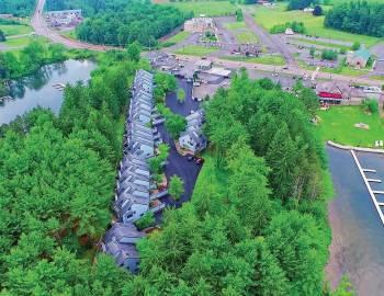 Drone View of Arrowhead Townhomes Deep Creek Lake