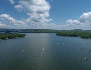 Drone View of Deep Creek Lake