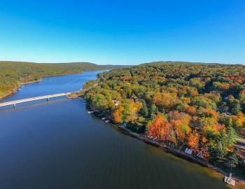 Fall Leaves at Deep Creek Lake