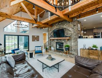 Fireplace in Vacation Home at Deep Creek Lake