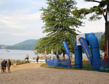 Starting Line of SavageMan Triathlon at Deep Creek Lake