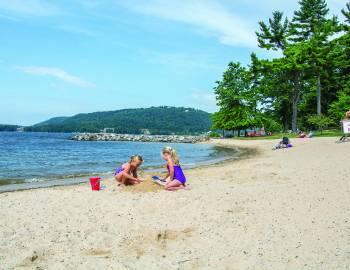 Girls on Deep Creek Lake State Park Beach