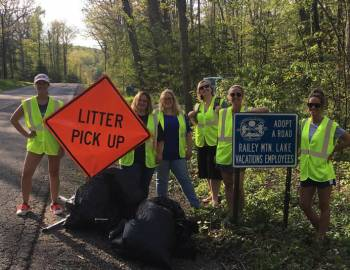 Trash Pickup at Deep Creek Lake