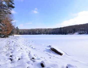 Winter Snowshoeing at Deep Creek Lake