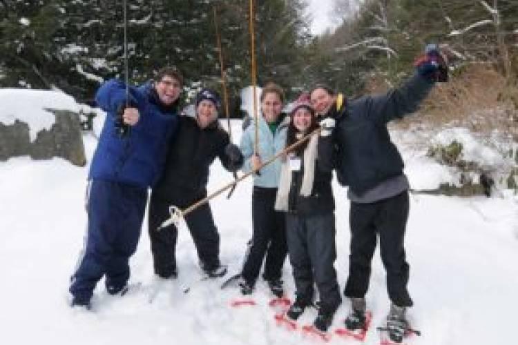 Snowshoeing at Deep Creek Lake