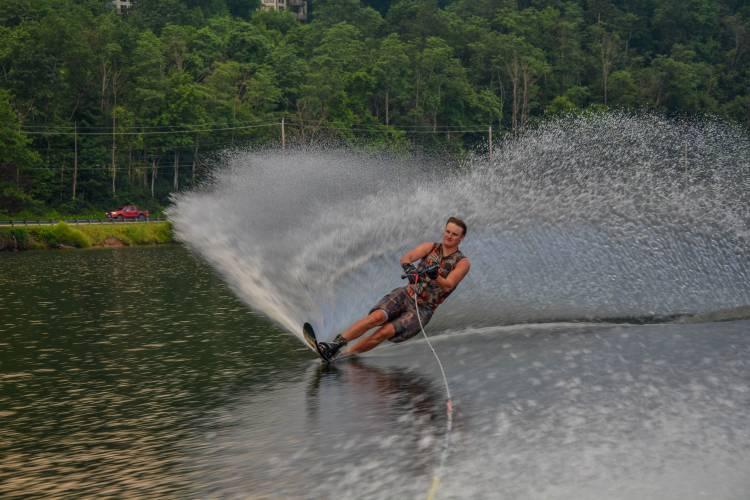 Waterskiing on Deep Creek Lake