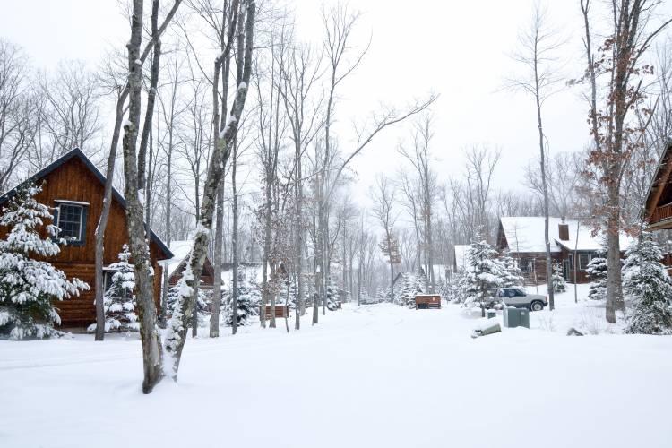 Snow at Deep Creek Lake