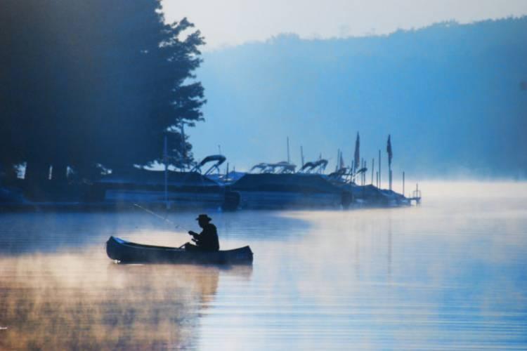 Morning Fishing on Deep Creek Lake