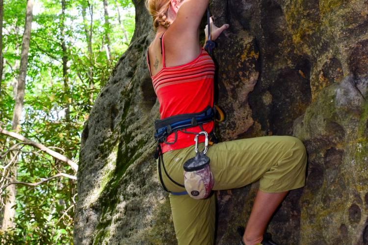 Girl Rock Climbing at Deep Creek Lake