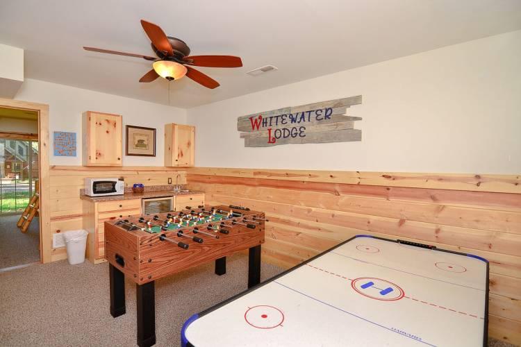 Game Room at Whitewater Lodge Deep Creek Lake