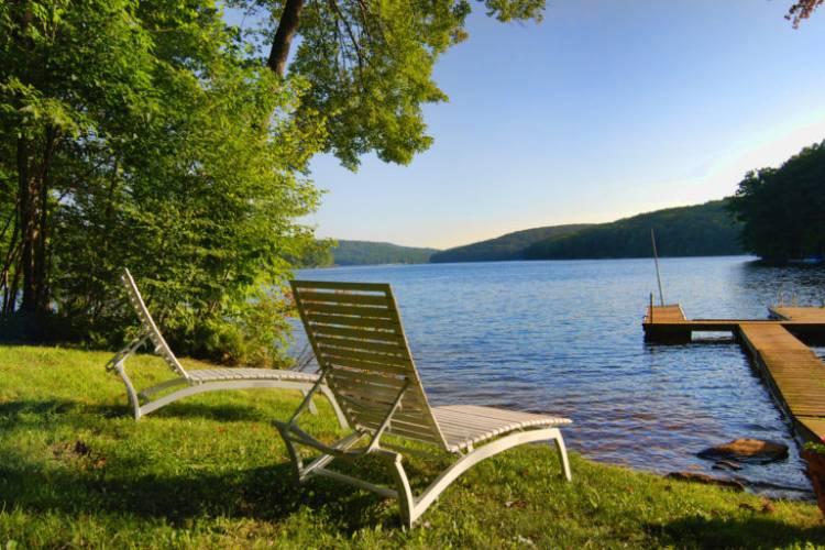 Lake front view at Deep Creek Lake