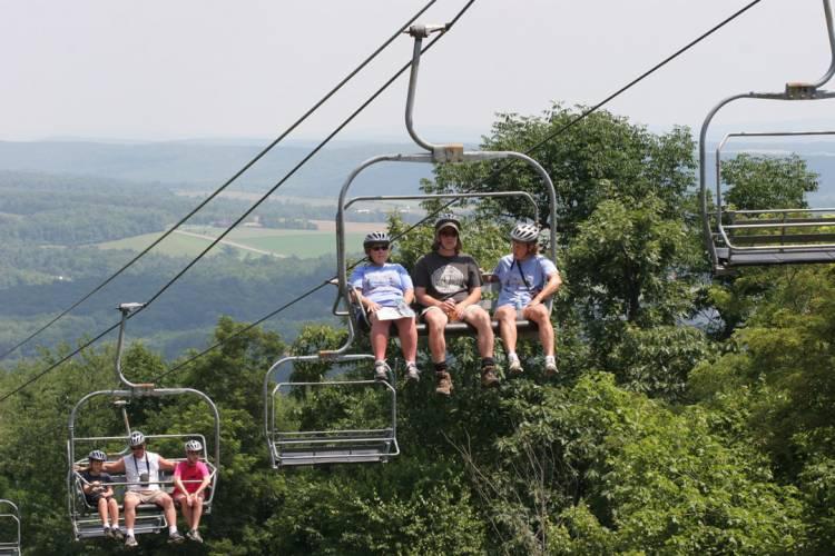 Scenic Chair Lift Ride at Wisp Resort Deep Creek Lake