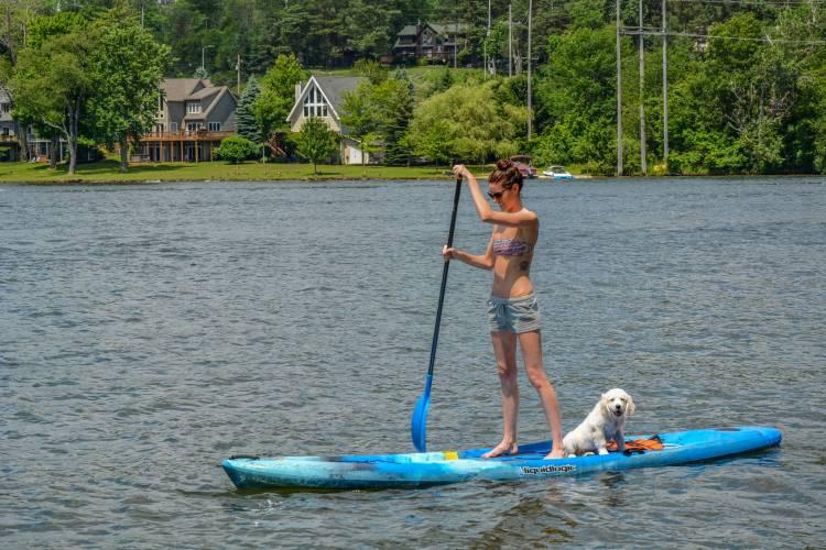 Paddleboarding on Deep Creek Lake