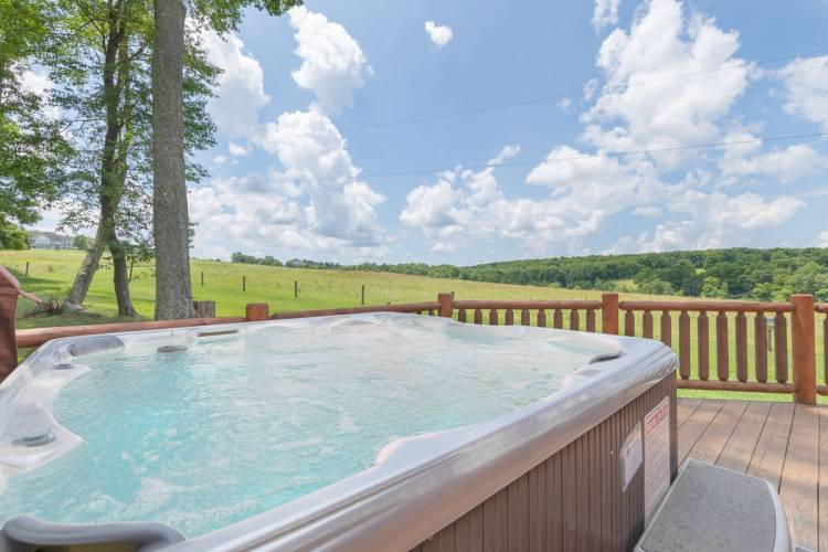 Hot Tub View at Windy Acres