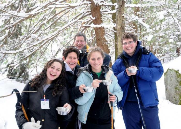 Group Snowshoeing at Deep Creek Lake